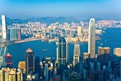 Punto di vista di Hong Kong da Victoria Peak fotografia stock