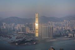 Punto di vista di Hong Kong da Victoria Peak fotografie stock