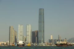 Punto di vista di Hong Kong Kowloon Fotografie Stock Libere da Diritti