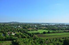 Punto di vista di Kanchanaburi Tailandia Fotografia Stock Libera da Diritti