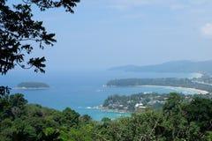 Punto di vista di Karon, Phuket, Tailandia Immagini Stock Libere da Diritti