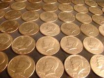 Punto di vista di Kennedy Half Dollars Immagini Stock Libere da Diritti