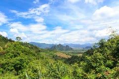 Punto di vista di Khao Sok Immagine Stock