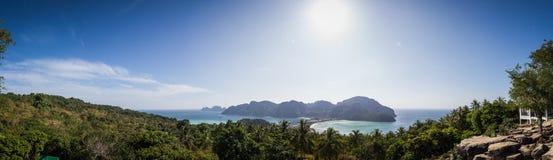 Punto di vista di Ko Phi Phi Don Island Fotografia Stock