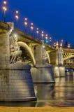 Punto di vista di Margaret Bridge, Budapest, Ungheria Fotografia Stock Libera da Diritti
