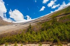 Punto di vista di mattina della natura delle montagne dei paesaggi Fondo del paesaggio di trekking della montagna Nessuno foto Or Immagine Stock Libera da Diritti