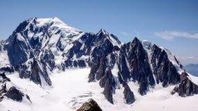 Punto di vista di Mont Blanc nelle alpi francesi Immagine Stock Libera da Diritti