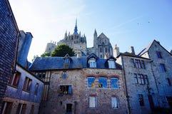 Punto di vista di Mont Saint Michel Immagini Stock Libere da Diritti
