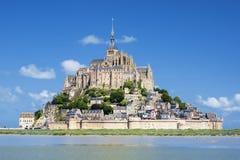 Punto di vista di Mont-San-Michel famoso Immagini Stock Libere da Diritti