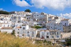 Punto di vista di Monte Sant ' Angelo. La Puglia. L'Italia. Immagine Stock Libera da Diritti