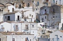 Punto di vista di Monte Sant ' Angelo. La Puglia. L'Italia. Immagini Stock Libere da Diritti