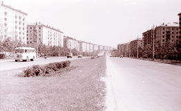Punto di vista di Mosca di Zoe e di Alexander Kosmodemyanskiy Street July 196 Immagini Stock Libere da Diritti