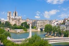 Punto di vista di Notre Dame de Paris Immagini Stock Libere da Diritti
