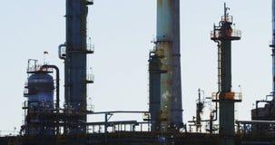 Punto di vista di olio e di industria del gas video d archivio