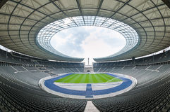Punto di vista di Olympia Stadium di Berlino vuota, Berlino Fotografie Stock Libere da Diritti