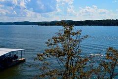 Punto di vista di Ozark Lake Fotografia Stock Libera da Diritti