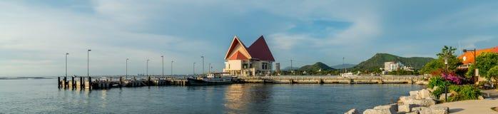 Punto di vista di panorama di Koh Loy Jetty Fotografia Stock Libera da Diritti