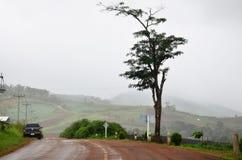 Punto di vista di panorama a, Mae Hong Son Province della Tailandia del nord Fotografia Stock Libera da Diritti