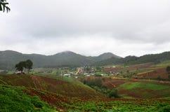 Punto di vista di panorama a, Mae Hong Son Province della Tailandia del nord Fotografia Stock
