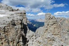 Punto di vista di Rocky Dolomite Alps Immagini Stock Libere da Diritti