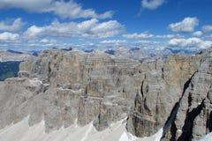 Punto di vista di Rocky Dolomite Alps Immagini Stock