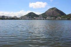 Punto di vista di Rodrigo de Freitas Lagoon Fotografia Stock Libera da Diritti