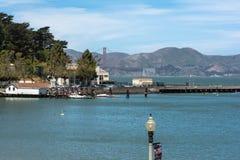 Punto di vista di San Francisco Bay dal parco acquatico immagini stock