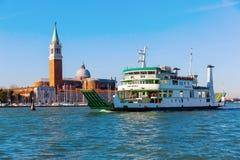 Punto di vista di San Giorgio Maggiore a Venezia, Italia Immagini Stock Libere da Diritti
