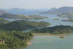 Punto di vista di Tai Tun del kung Hong Kong di sai Immagine Stock