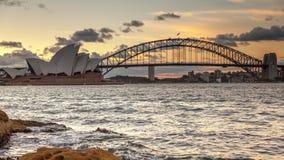 Punto di vista di Timelapse di Sydney Harbour video d archivio