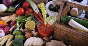 Punto di vista di un assortimento di verdure sane e organiche Fotografia Stock Libera da Diritti