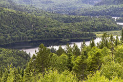 Punto di vista di un lago, Kanada di Parc Maurice Immagini Stock Libere da Diritti