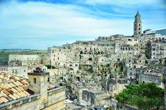 Punto di vista di un paese nel sud dell'Italia Immagine Stock