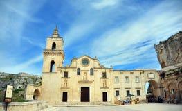 Punto di vista di un paese nel sud dell'Italia Fotografie Stock