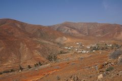 Punto di vista di Vega de Rio Palmas, Fuerteventura Fotografie Stock Libere da Diritti