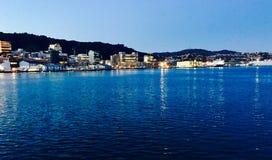 Punto di vista di Wellington Harbor Immagine Stock Libera da Diritti