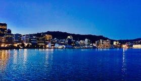 Punto di vista di Wellington Harbor Fotografia Stock Libera da Diritti