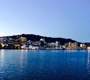 Punto di vista di Wellington Harbor Immagine Stock