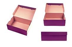 Punto di vista differente della scatola in bianco con il coperchio su backgroun bianco Immagine Stock Libera da Diritti
