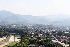 Punto di vista e paesaggio nel prabang del luang, Laos Fotografie Stock Libere da Diritti
