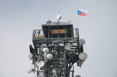 Punto di vista e torre di comunicazione Immagine Stock
