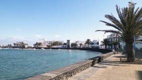 Punto di vista di El Charco de San Gines, isola di Lanzarote fotografia stock libera da diritti