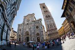 Punto di vista esteriore di Florence Cathedral in Italia Immagini Stock