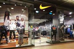 Punto di vista esteriore di Nike Store Fotografia Stock Libera da Diritti