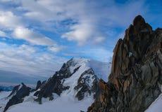 Punto di vista fantastico di Mont Blanc immagini stock libere da diritti