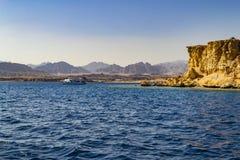 Punto di vista fantastico di Naama Bay, Sharm-el-Sheikh, Egitto immagini stock libere da diritti