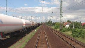 Punto di vista ferroviario stock footage