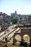 Punto di vista generale di Roman Forum Immagini Stock