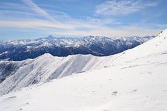 Alpi italiane nell'inverno, supporto Viso Immagini Stock