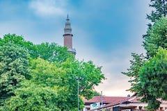 Punto di vista di grande moschea o Ulu Cami di Bursa a Bursa, Turchia immagini stock libere da diritti